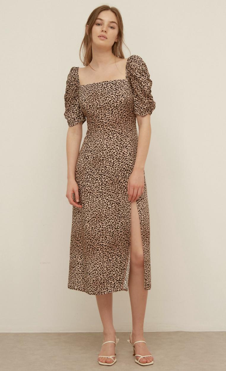 Leopard Print Midi Tea Dress (Nobody's Child/M&S)