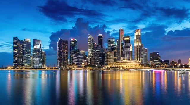 Vista panorámica del distrito financiero de Singapore. Foto: Getty Image.