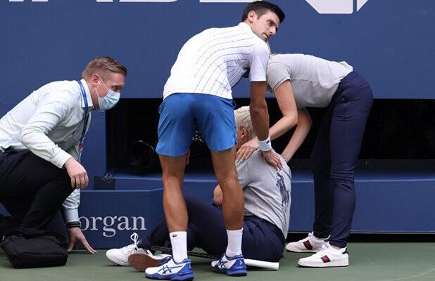 US Open Favorite Novak Djokovic Disqualified After Hitting Line Judge With Ball Mid-Match