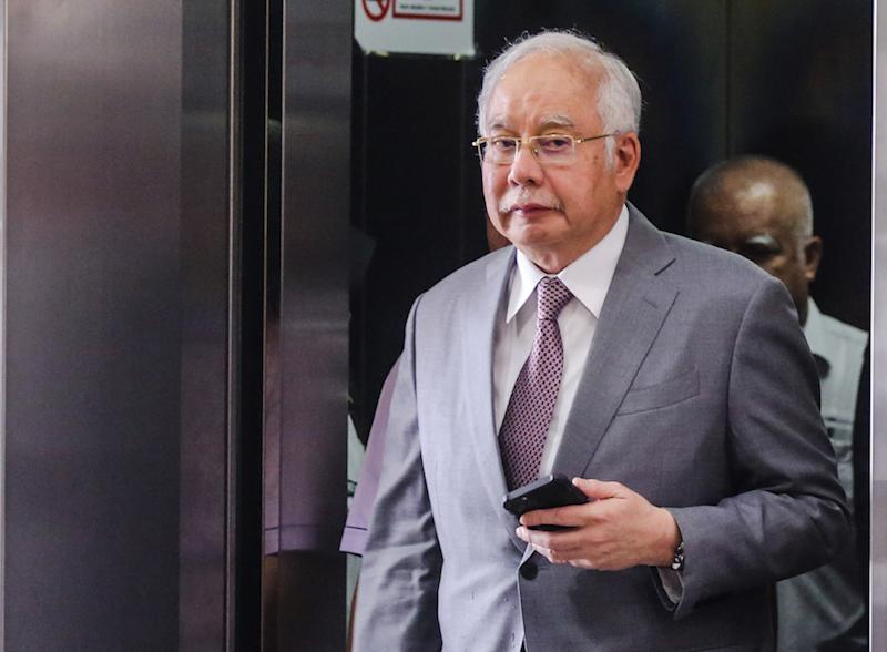 Former prime minister Datuk Seri Najib Razak is pictured at the Kuala Lumpur High Court December 9, 2019. — Picture by Firdaus Latif