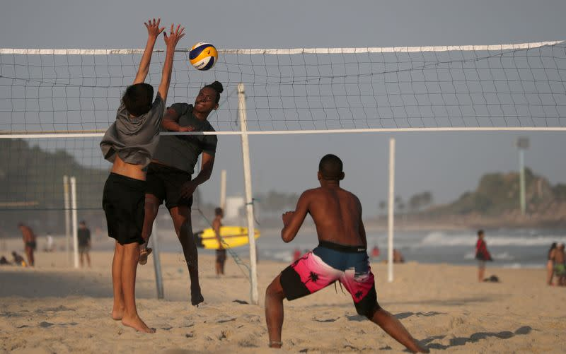 Politics split athletes on volleyball's return in Brazil