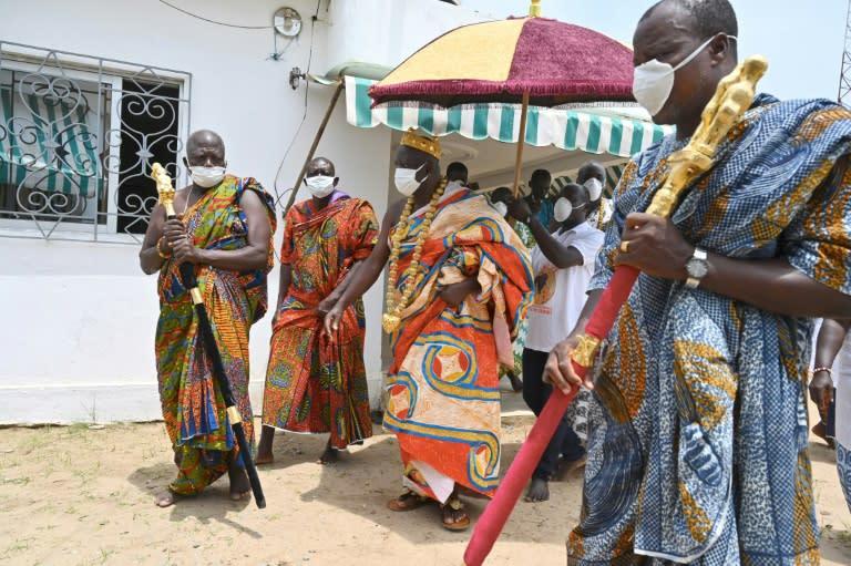 "King Amon N'Douffou V called coronavirus a ""bad spirit"""