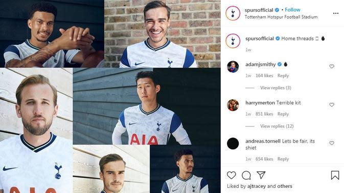 Seragam Tottenham. (Instagram)