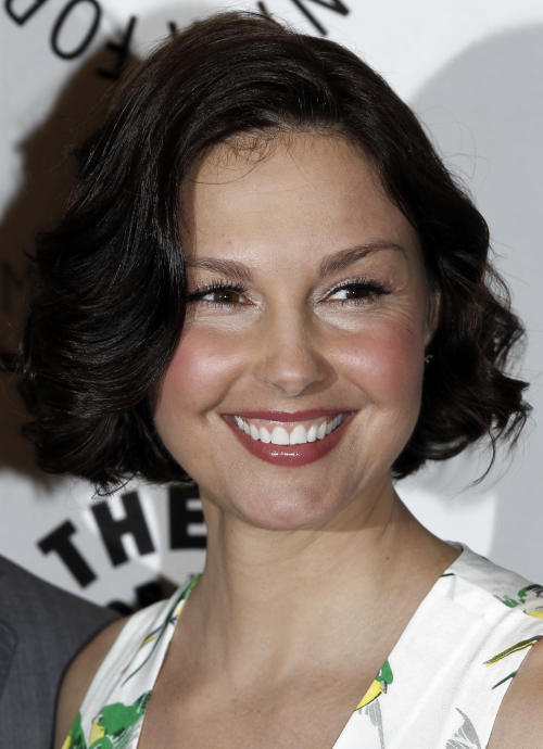 """FILE - In a Tuesday, April 10, 2012 file photo, cast member Ashley Judd arrives at a preview screening for an upcoming episode of the ABC television series """"Missing"""" in Beverly Hills, Calif. Judd isn't ruling out a run for U.S. Senate in Kentucky. The former Kentuckian is an active supporter of Tennessee Democrats. She said in a statement Friday, Nov. 9, 2012 that she's honored to be mentioned as a potential candidate, but she sidestepped the question of whether she would get into the race. (AP Photo/Matt Sayles, File)"""