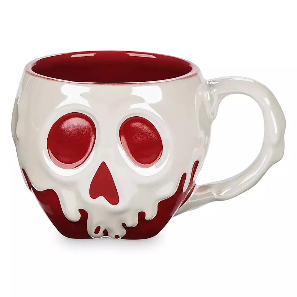 """<p>Only the bravest of souls will have a sip out of this <a href=""""https://www.shopdisney.com/poisoned-apple-mug-snow-white-and-the-seven-dwarfs-465031968215.html"""" target=""""_blank"""" class=""""ga-track"""" data-ga-category=""""Related"""" data-ga-label=""""https://www.shopdisney.com/poisoned-apple-mug-snow-white-and-the-seven-dwarfs-465031968215.html"""" data-ga-action=""""In-Line Links"""">Poisoned Apple Mug – <strong>Snow White and the Seven Dwarfs</strong> </a> ($17).</p>"""