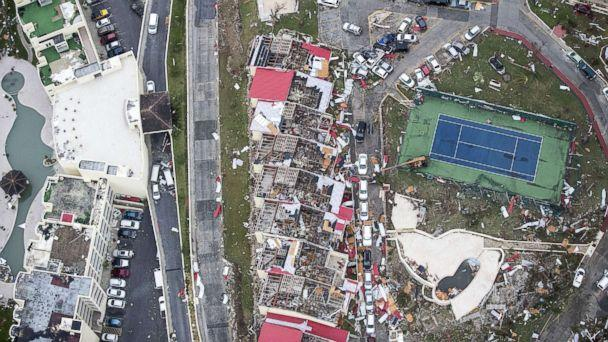 PHOTO: An aerial photo shows the damage from Hurricane Irma on the Caribbean island of St. Martin, Sept. 6, 2017. (Dutch Defense Ministry via AFP/Getty Images)
