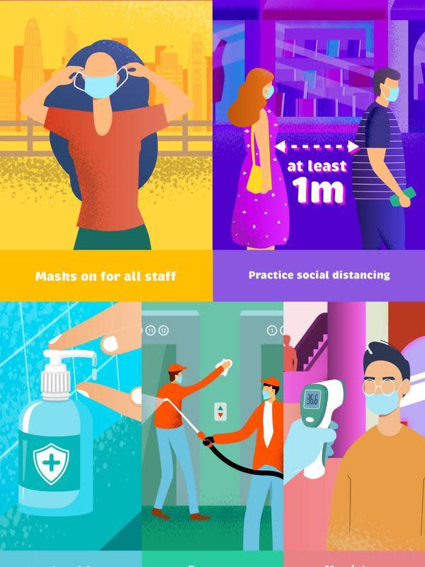 Standarisasi protokol kesehatan pariwisata oleh Dewan Pariwisata Hong Kong (dok. HKTB)