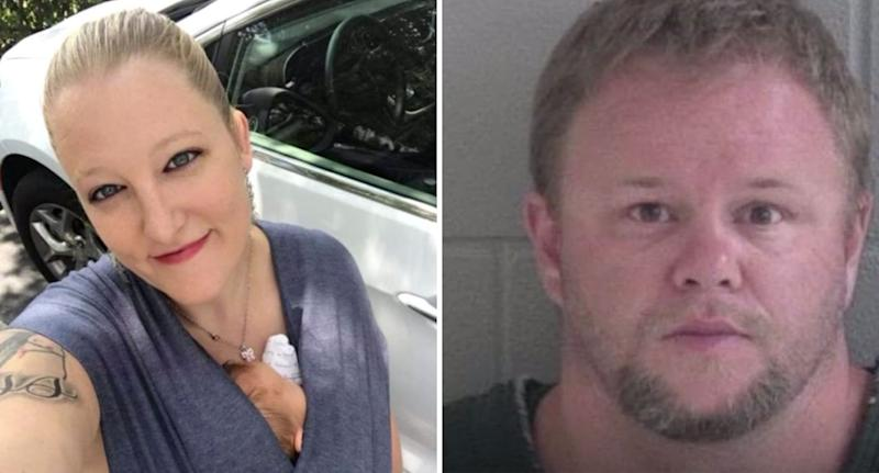 Casei Jones (left). Police said she and her four kids were killed by her husband Michael Jones (right).