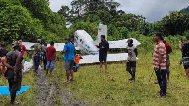 Landasan Licin, Pesawat Tariku Tergelincir di Bandara Paniai Papua