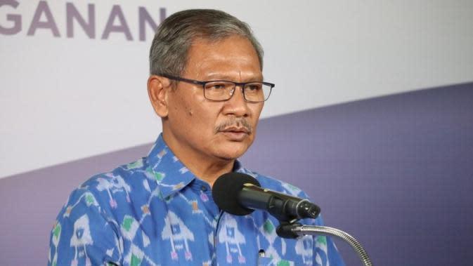 Juru Bicara Pemerintah untuk Penanganan COVID-19 di Indonesia, Achmad Yurianto saat konferensi pers Corona di Graha BNPB, Jakarta, Kamis (28/5/2020). (Dok Badan Nasional Penanggulangan Bencana/BNPB)