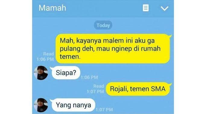 6 Chat Ibu Enggak Peka ke Anak Ini Bikin Geregetan (sumber: Instagram.com/ngakakkocak)