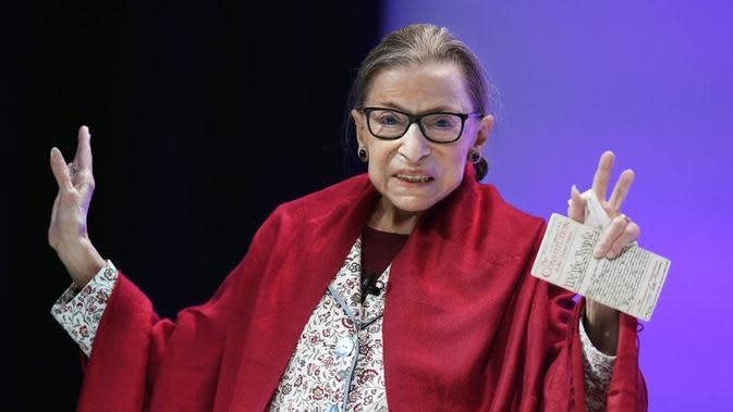 Hakim Agung AS Ruth Bader Ginsburg. Dok: AP Photo
