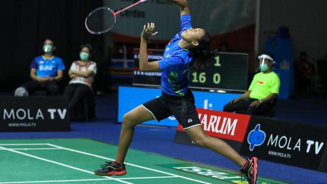 Penampilan Saifi Rizka Nur Hidayah di PBSI Home Tournament, Jumat (22/7/2020). (PBSI)