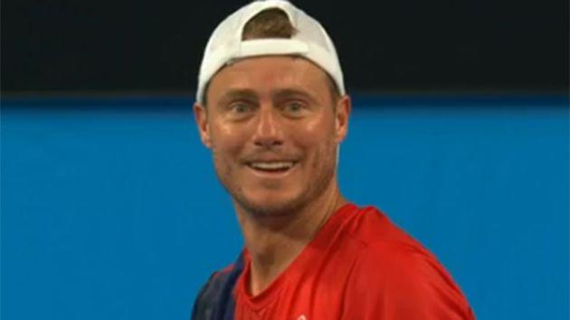Hewitt reacts to Sock's admission. Image: Channel 7