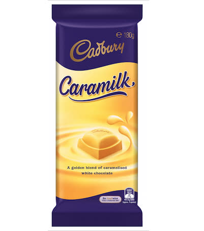 The Caramilk is making it's grand return to Australian shelves, but not before a stint in the online world. Photo: Supplied