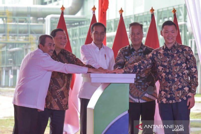Presiden Jokowi resmikan pabrik rayon di Pelalawan Riau