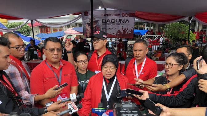 Wali Kota Surabaya Tri Rismaharini saat menghadiri kongres PDIP di Jakarta. (Liputan6.com/Putu Merta Surya Putra)