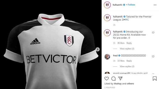 Seragam Fulham. (Instagram)