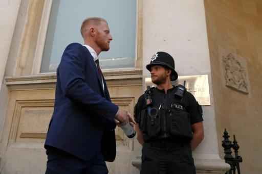 England cricketer Ben Stokes (L) returns to Bristol Crown Court on August 6