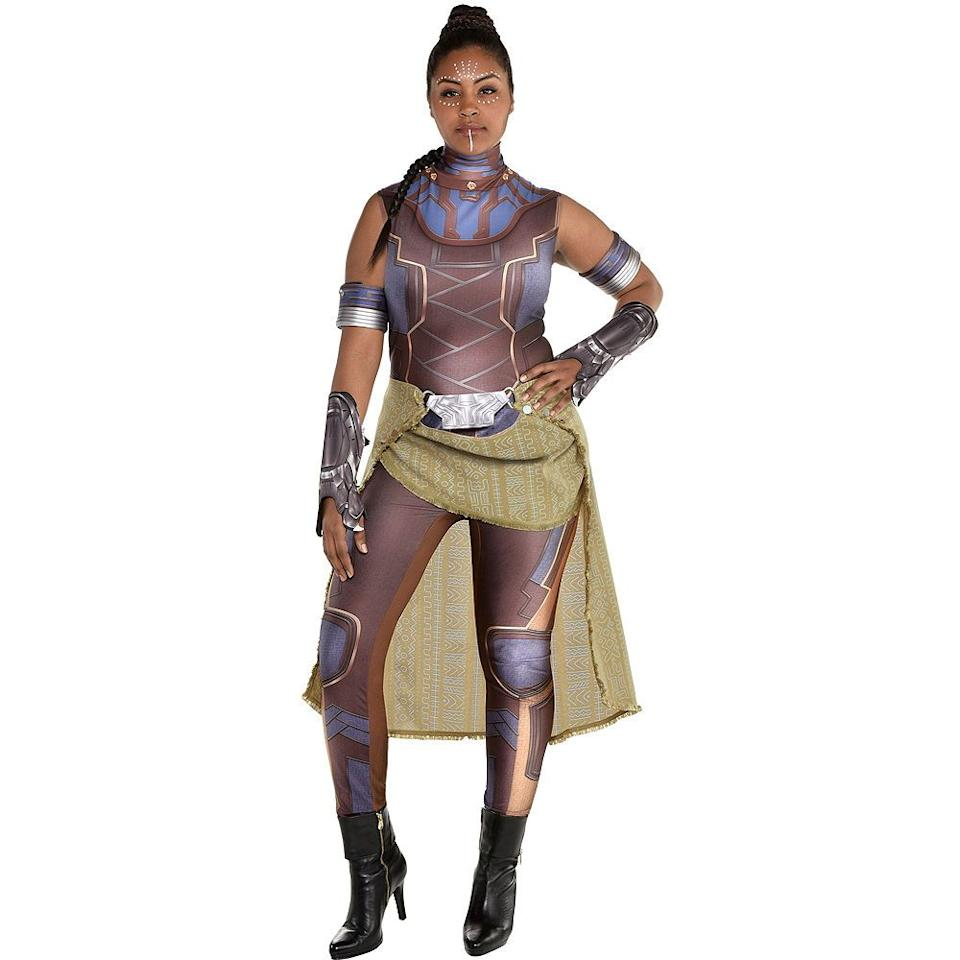"""<p><strong>See All Black Panther Costumes</strong></p><p>partycity.com</p><p><strong>$49.99</strong></p><p><a href=""""https://go.redirectingat.com?id=74968X1596630&url=https%3A%2F%2Fwww.partycity.com%2Fwomens-shuri-costume-plus-size---black-panther-P792420.html&sref=https%3A%2F%2Fwww.goodhousekeeping.com%2Fholidays%2Fhalloween-ideas%2Fg28102891%2Fbadass-halloween-costumes-women%2F"""" target=""""_blank"""">Shop Now</a></p><p>Though <em>Black Panther</em> premiered in 2018, we see no signs of costume inspo slowing down. For a badass costume, go as the brilliant princess of Wakanda.</p>"""