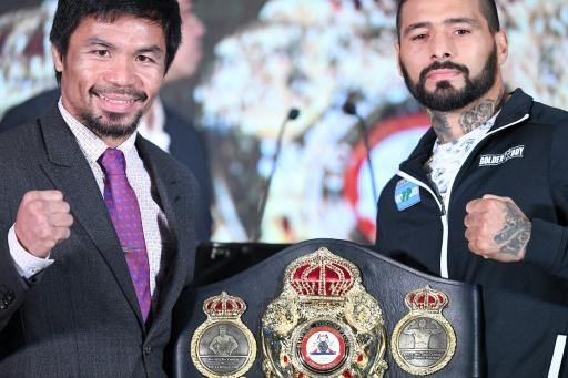 Manny Pacquiao (L) and Argentina's Lucas Matthysse will fight in Kuala Lumpur on Sunday