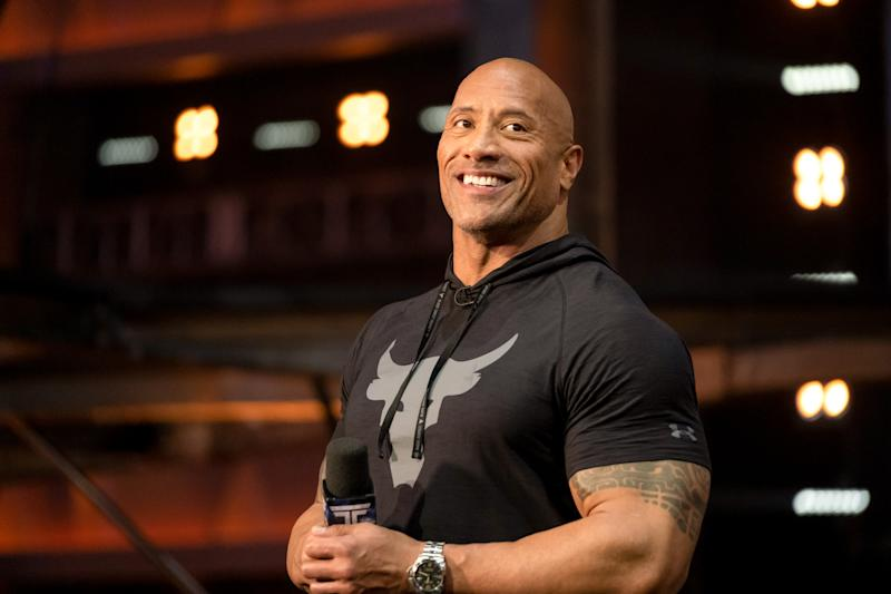 Dwayne Johnson fronting season two of 'The Titan Games'. (Photo by: Steve Dietl/NBC/NBCU Photo Bank via Getty Images)