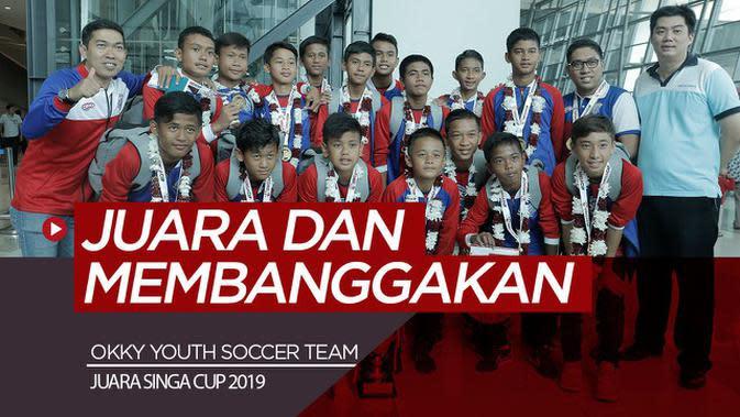 VIDEO: Tim Muda Sepak Bola dari Indonesia Berbagi Pengalaman Juara di Singapura