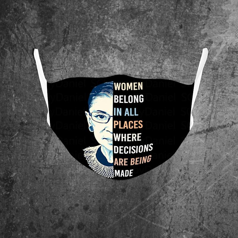 Notorious RBG Face Mask. (Image via Etsy)