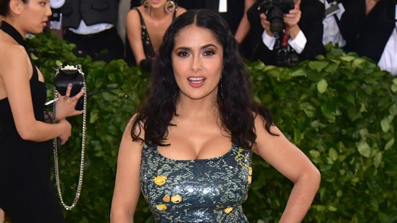 Salma Hayek, 52, has shared a new set of beachside snaps with Instagram followers. Photo: Getty Images