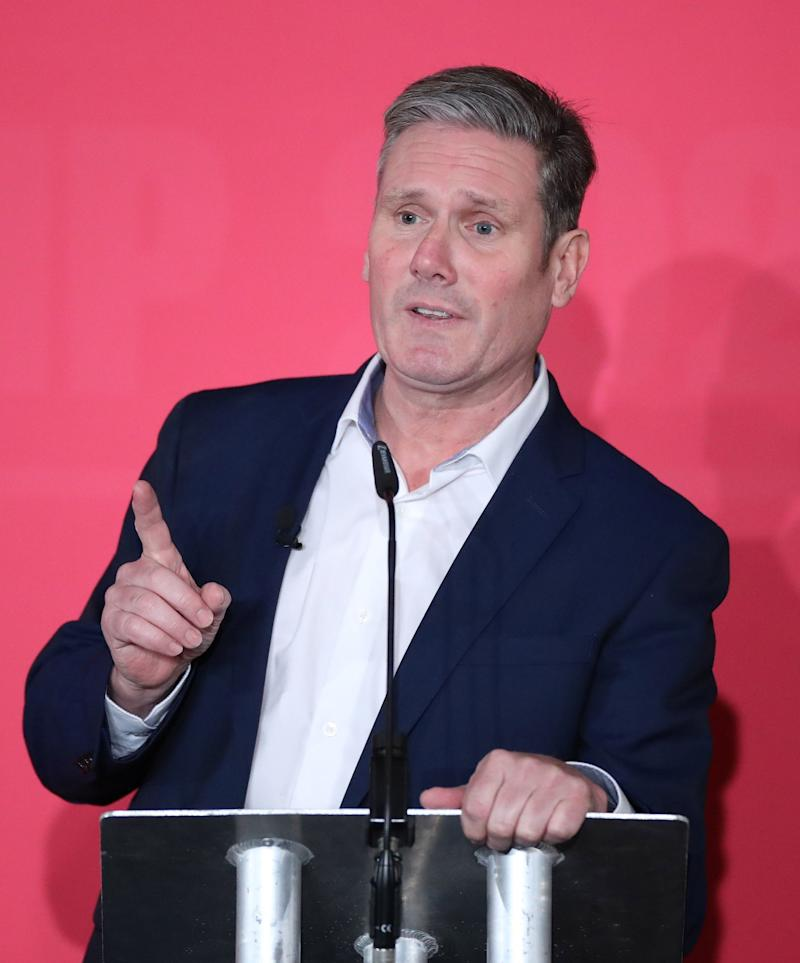 Keir Starmer speaking during the Labour leadership husting at the ACC Liverpool. (PA)