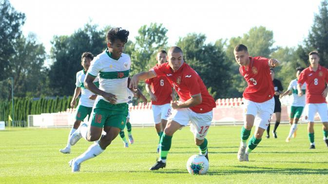 Penyerang Timnas Indonesia U-19, Irfan Jauhari, mengaku diinstruksikan untuk fokus sepanjang pertandingan saat menghadapi Kroasia di International U-19 Friendly Tournament 2020. (dok. PSSI)