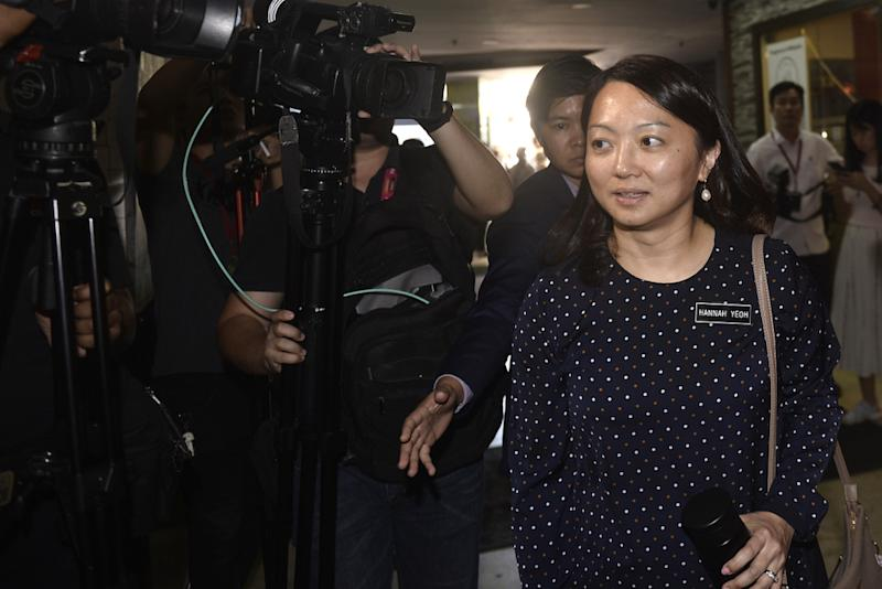 Hannah Yeoh arrives for the DAP meeting at the DAP headquarters, February 24,2020. — Picture by Miera Zulyana