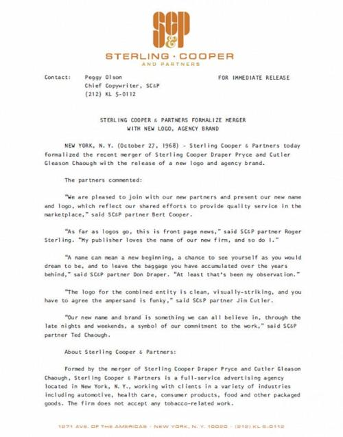 'Mad Men's Sterling Cooper & Partners 'Rebrands' With New Logo