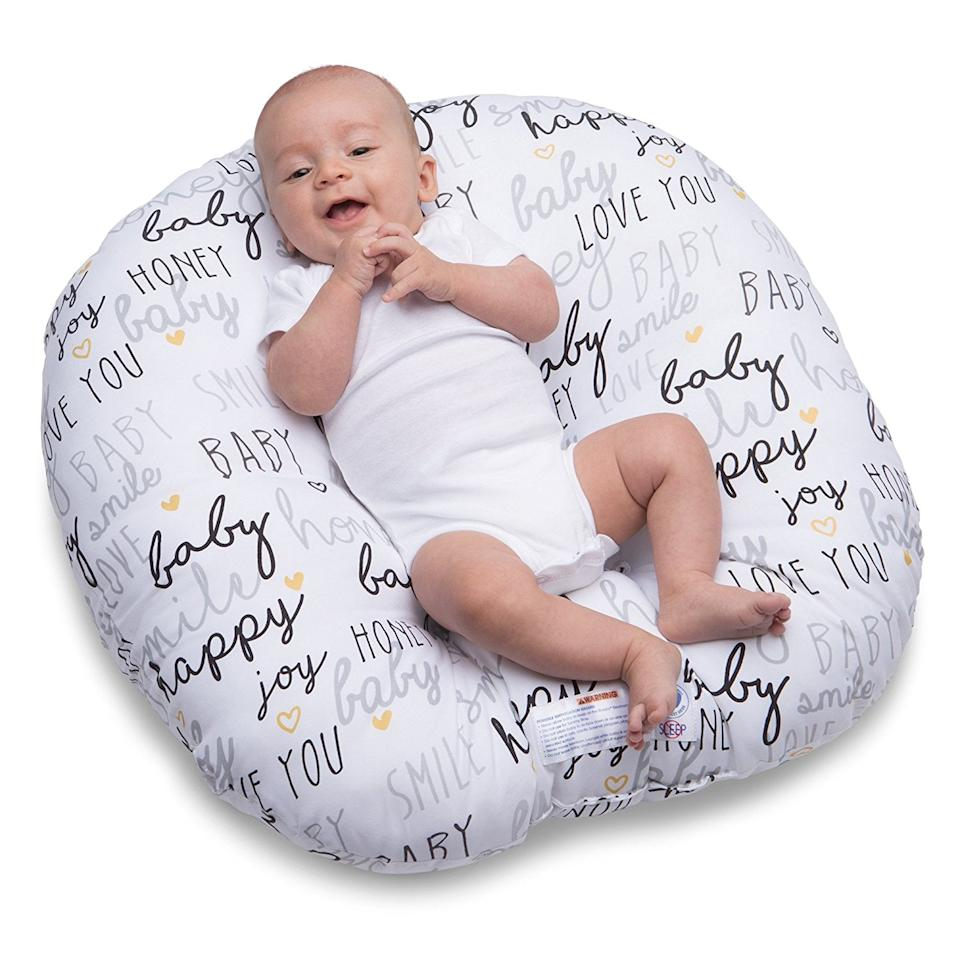 "<p>Give little ones a comfy place to rest with this <a rel=""nofollow"" href=""https://www.popsugar.com/buy/Boppy%20Newborn%20Hello%20Baby%20Lounger-423069?p_name=Boppy%20Newborn%20Hello%20Baby%20Lounger&retailer=amazon.com&price=33&evar1=moms%3Aus&evar9=45927205&evar98=https%3A%2F%2Fwww.popsugar.com%2Ffamily%2Fphoto-gallery%2F45927205%2Fimage%2F45927662%2FBoppy-Newborn-Hello-Baby-Lounger&list1=gifts%2Cgift%20guide%2Cbabies%2Cbaby%20showers%2Cbaby%20shower%20gifts%2Cgifts%20for%20kids%2Cgifts%20for%20babies&prop13=mobile&pdata=1"" rel=""nofollow"">Boppy Newborn Hello Baby Lounger</a> ($33).</p>"