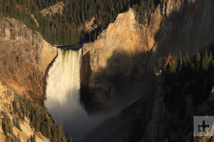 Sample shot of Upper Yellowstone Falls taken on the Canon EOS 6D Mark II at Yellowstone National Park