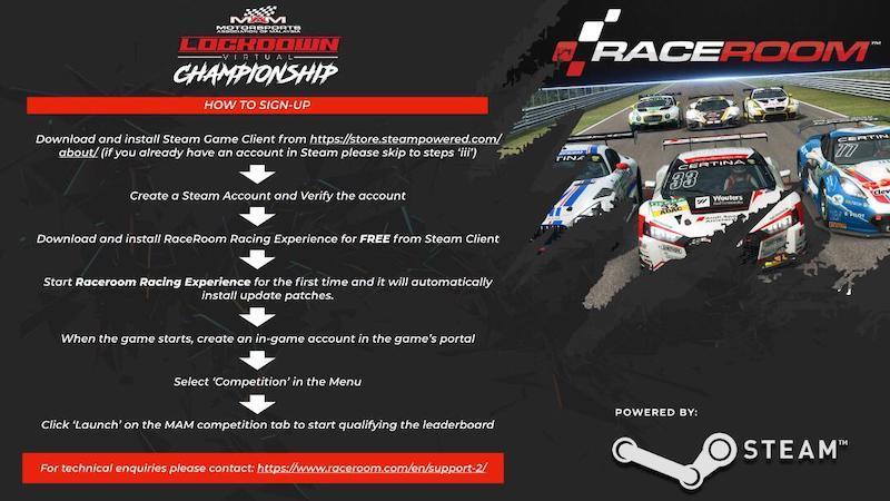 Follow these steps to sign up for the MAM Virtual Lockdown Championship. — Photo courtesy of Motorsport Association of Malaysia