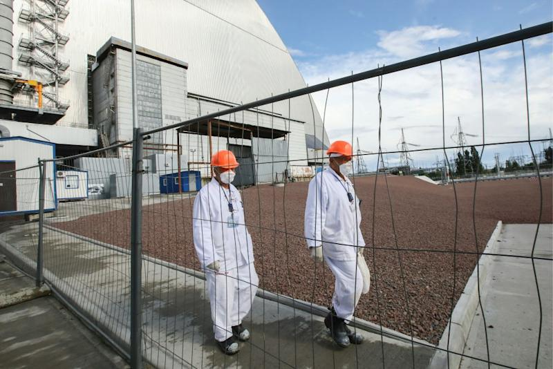Fears Chernobyl plant's concrete 'sarcophagus' could