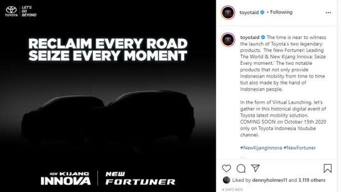 Meluncur Lusa, Toyota Kasih Bocoran Innova dan Fortuner Facelift