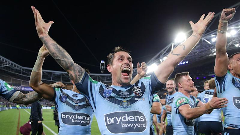 Mitchell Pearce has buried his demons to win an Origin series for the first time. Pic: Getty