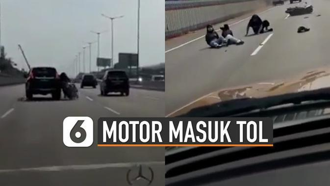 VIDEO: Viral Tiga Perempuan Naik Motor Masuk ke Jalan Tol