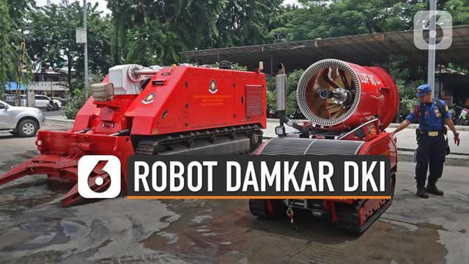 VIDEO: Kecanggihan Robot Dok-Ing MVF-U3 Milik Damkar DKI Seharga Rp 32 M