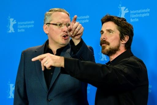"""Director Adam McKay, pictured with Bale, said Vice was a """"comedy-tragedy"""" made with hindsight"""