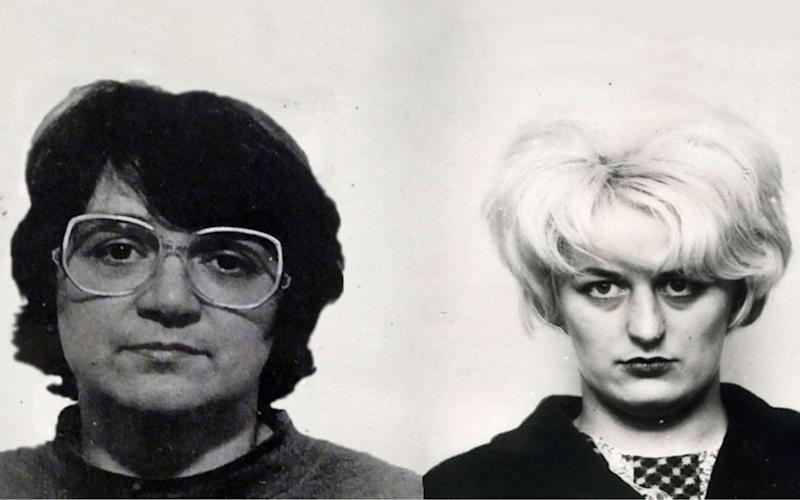 Rose West and Myra Hindley reportedly had a brief relationship while in prison - ITV