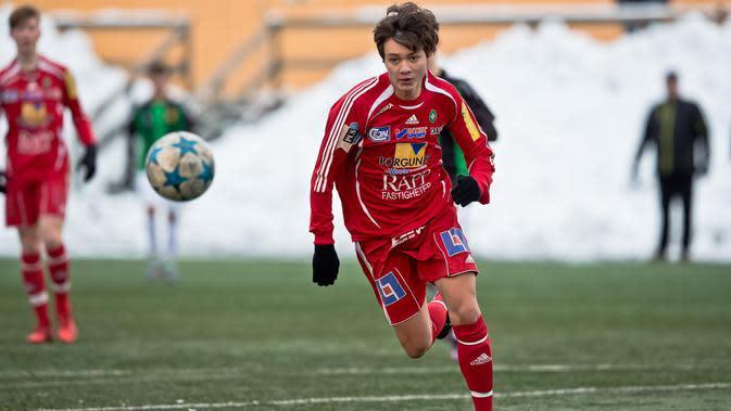 Nyoman Paul Fernando Aro, bek kelahiran Indonesia yang menimba ilmu di Swedia bersama Skovde AIK U-19. (Paul Aro).