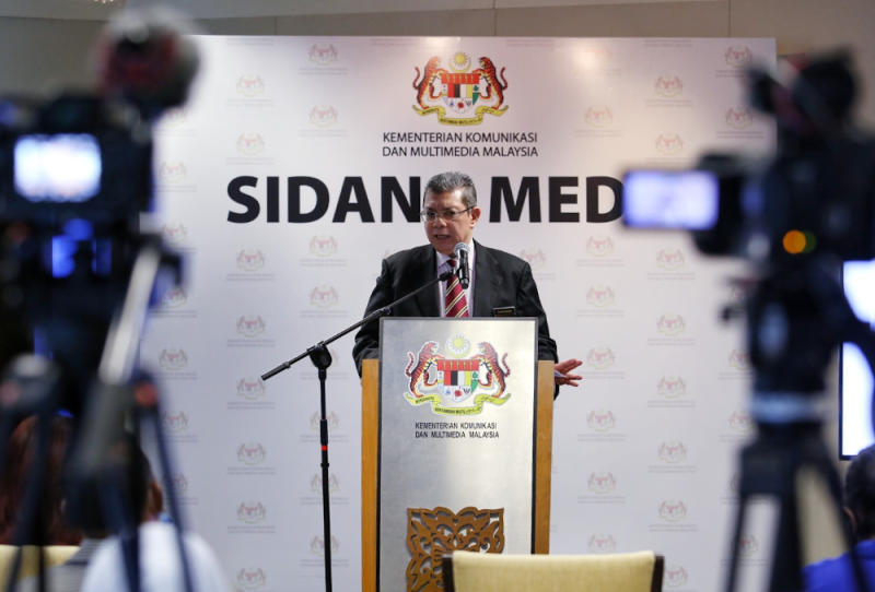 Communications and Multimedia Minister Datuk Saifuddin Abdullah said he was informed by Bernama's chairman that action has been taken against the host. — Picture by Choo Choy May