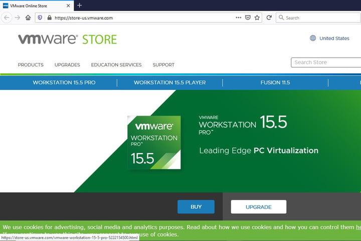 Image of VMWare Workstation Pro 15.5