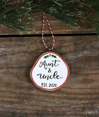 Aunt and Uncle Gift New Aunt and Uncle Personalized Christmas Ornament pregnancy reveal Aunt and Uncle Ornaments