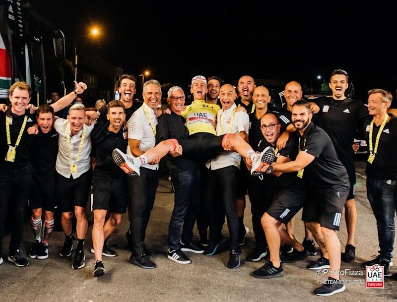 UAE Team Emirates Pogacar Gianetti Peiper Matxin Tour de France 2020