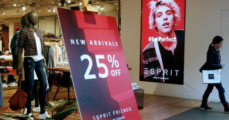 時裝品牌ESPRIT受到疫情打擊下陸續裁員、關店,虧損近新台幣151億元。(圖/Reuters)