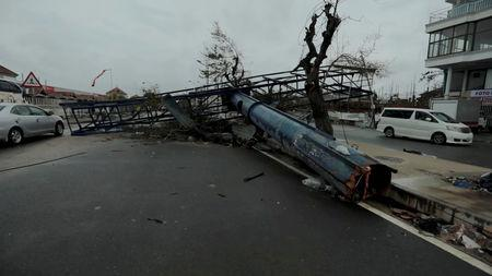 A general view shows destruction after Cyclone Idai in Beira, Mozambique, March 16-17, 2019 in this still image taken from a social media video on March 19, 2019. Care International/Josh Estey via REUTERS